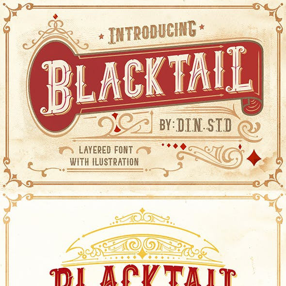Blacktail - Vintage Font