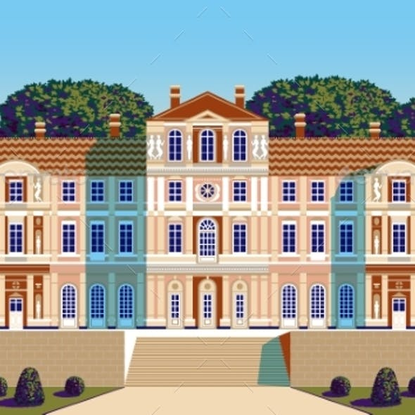 Classical Palace in the Baroque Style