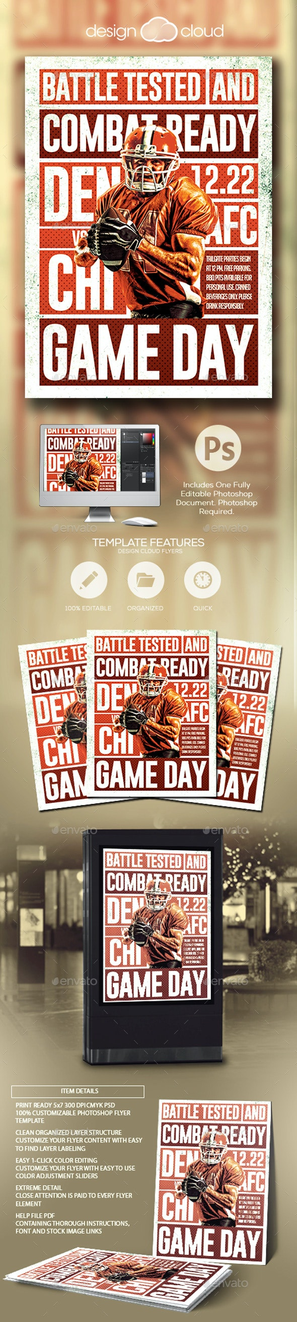 Football 2018 Flyer Template - Sports Events