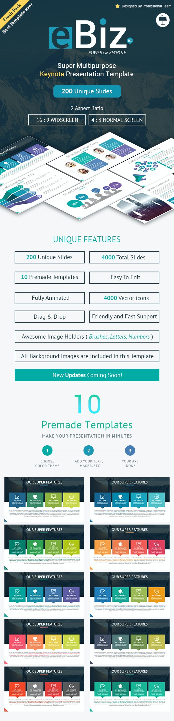 eBiz Creative Multipurpose Keynote Presentation Template - Business Keynote Templates