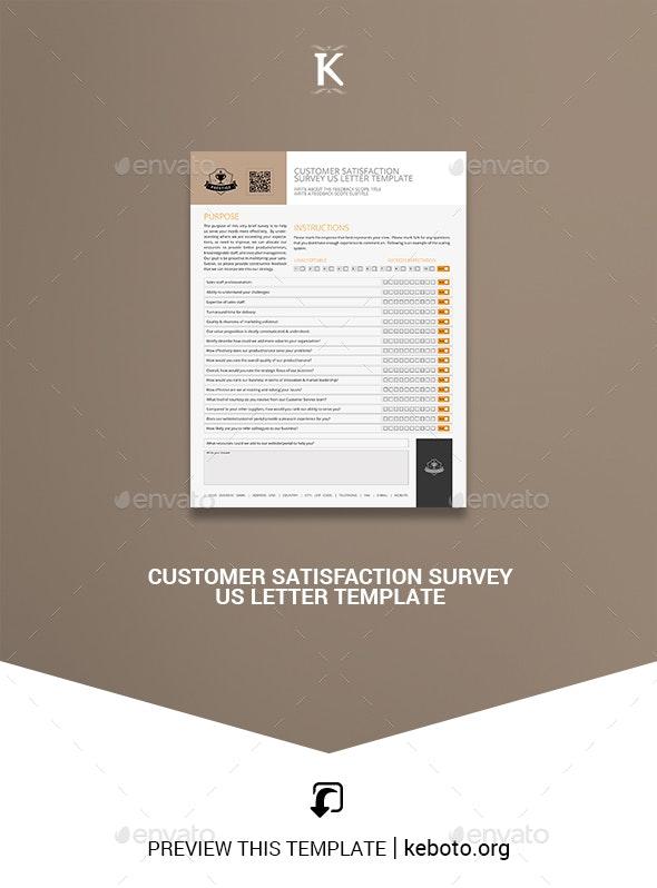 Customer Satisfaction Survey US Letter Template - Miscellaneous Print Templates