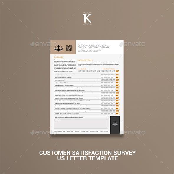 Customer Satisfaction Survey US Letter Template