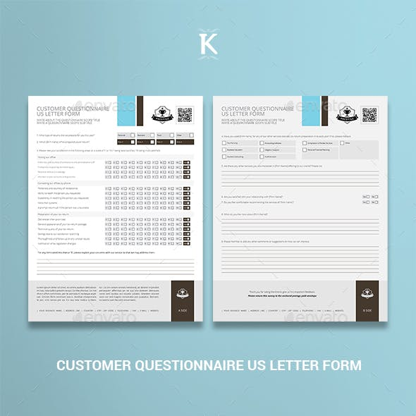 Customer Questionnaire US Letter Form