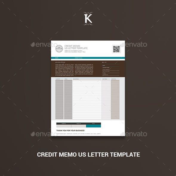 Credit Memo US Letter Template