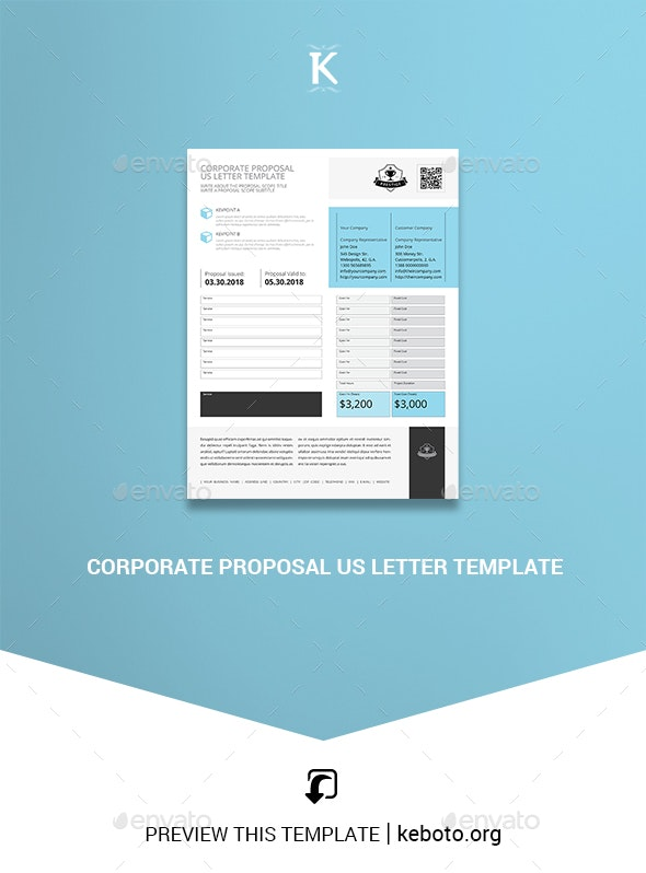 Corporate Proposal US Letter Template - Miscellaneous Print Templates