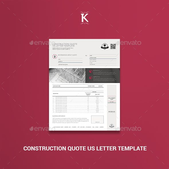 Construction Quote US Letter Template