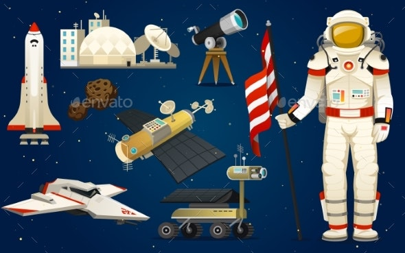 Astronaut in Space - Miscellaneous Vectors