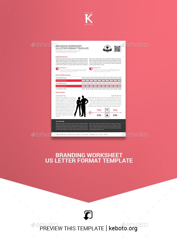 Branding Worksheet US Letter Format Template - Miscellaneous Print Templates