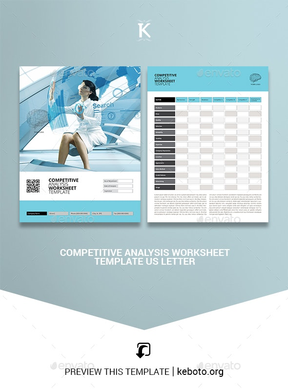 Competitive Analysis Worksheet Template US Letter - Miscellaneous Print Templates
