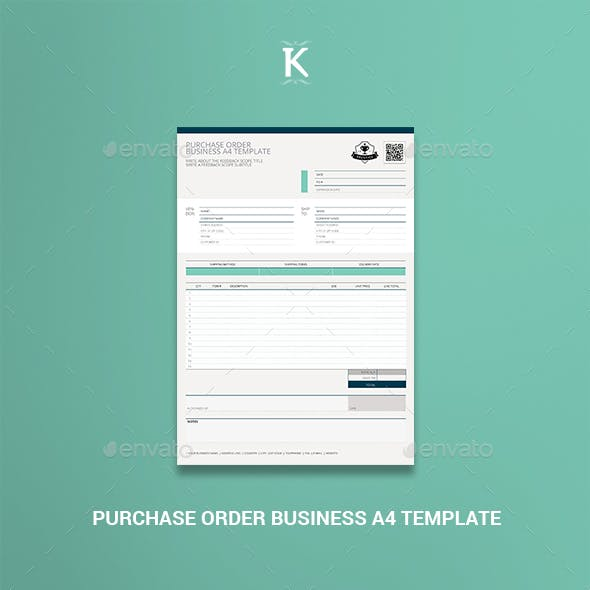 Purchase Order Business A4 Template