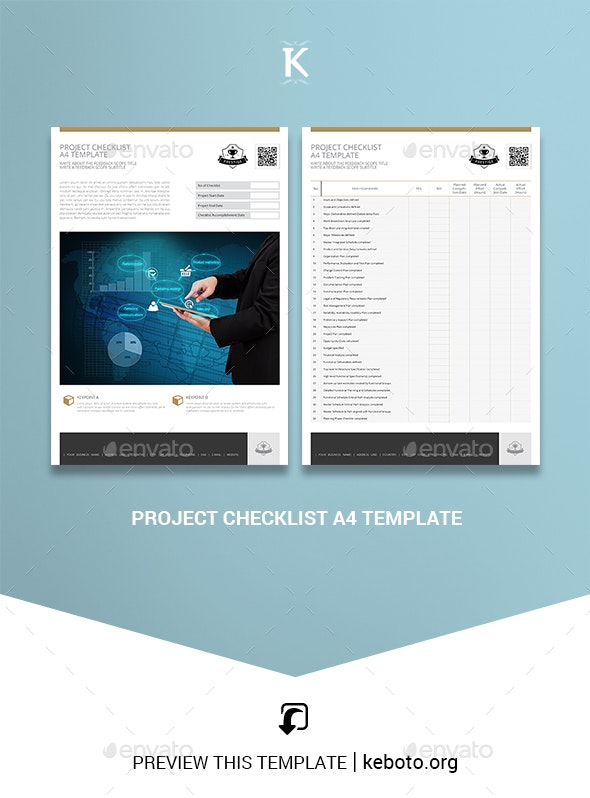 Project Checklist A4 Template - Miscellaneous Print Templates