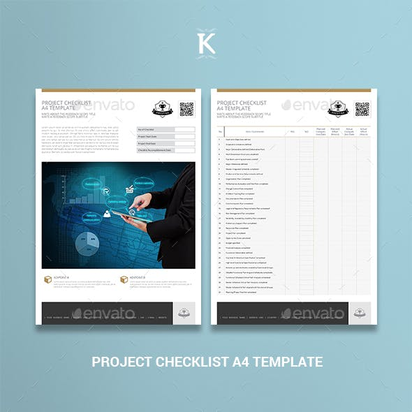 Project Checklist A4 Template
