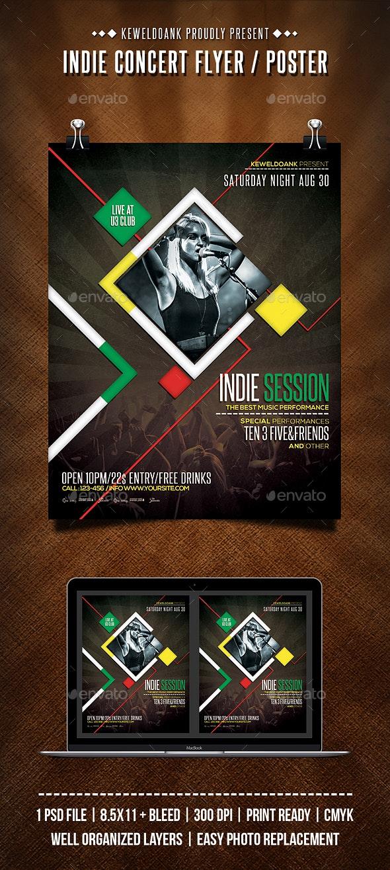 Indie Concert Flyer/Poster - Concerts Events