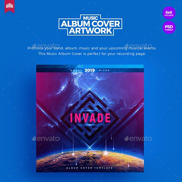 Invade - Music Album Cover Artwork