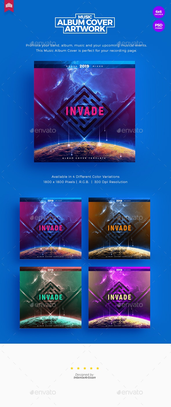 Invade - Music Album Cover Artwork - Miscellaneous Social Media