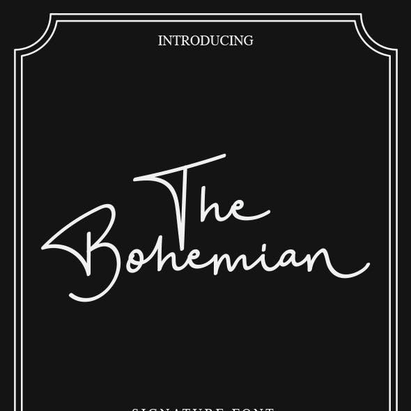 The Bohemian - a Signature Font