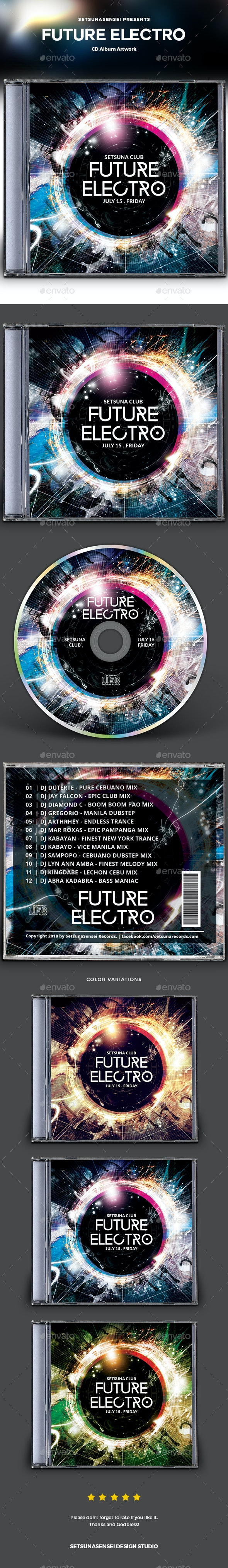 Future Electro CD Album Artwork - CD & DVD Artwork Print Templates