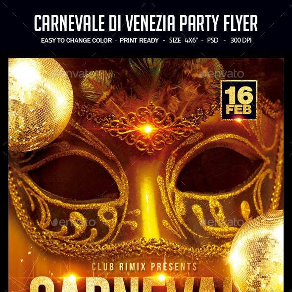 Carnevale Di Venezia Party Flyer