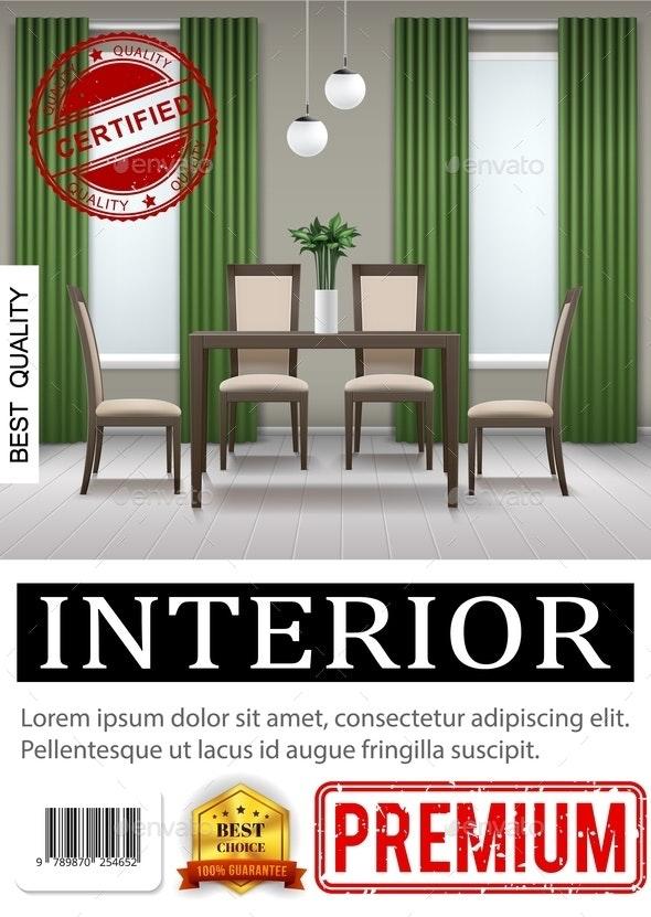 Realistic Classic Home Interior Poster - Miscellaneous Vectors