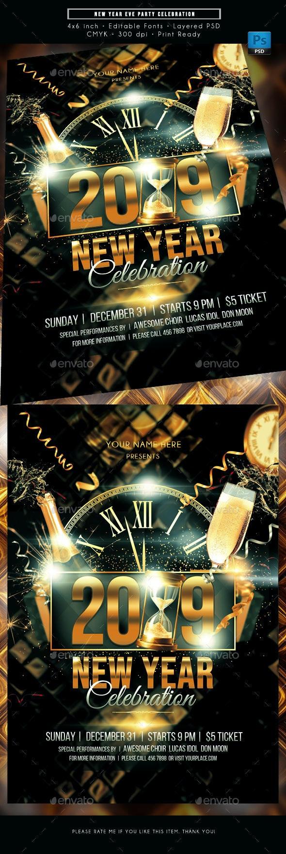 New Year Eve Celebration Flyer - Holidays Events