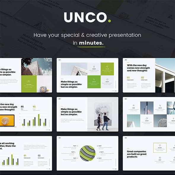 UNCO - Simple Presentation Template (SHIFT Builder)