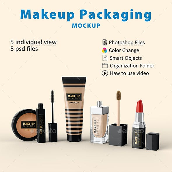 Makeup Packaging Mockup