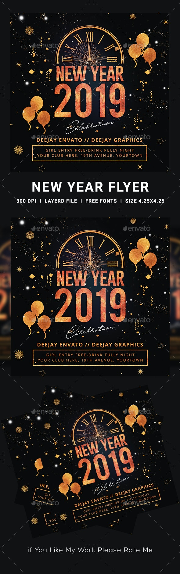 Splash 2019 New Year Flyer - Clubs & Parties Events
