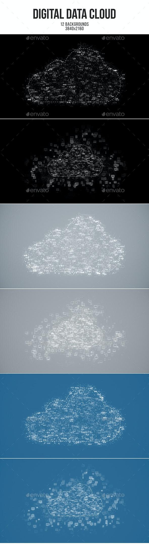 Digital Data Cloud - Tech / Futuristic Backgrounds