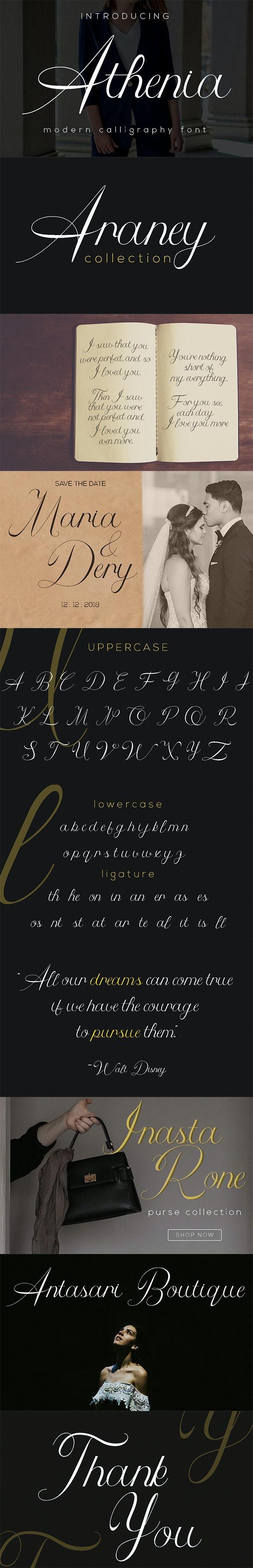 Athenia - Script Fonts