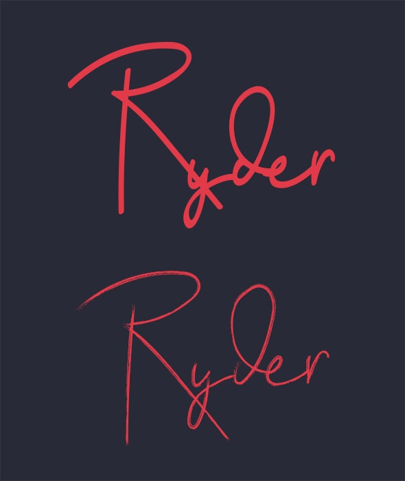 Ryder - Handwriting Fonts