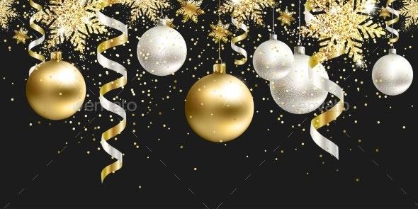 Black Christmas Decor for Site - Christmas Seasons/Holidays
