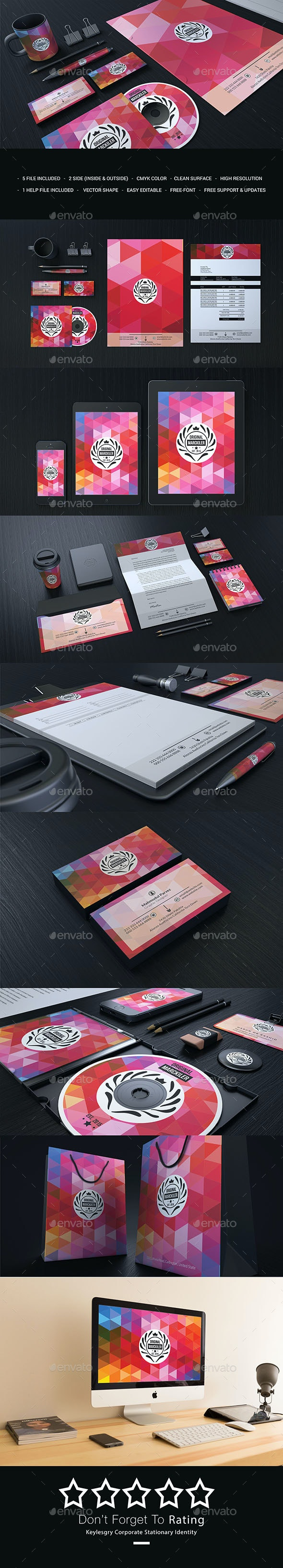 Coluared Corporate Branding Identity - Stationery Print Templates