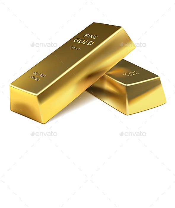 Two Gold Bars - Miscellaneous Vectors