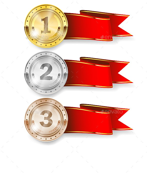 Gold, Silver and Bronze Medal - Sports/Activity Conceptual