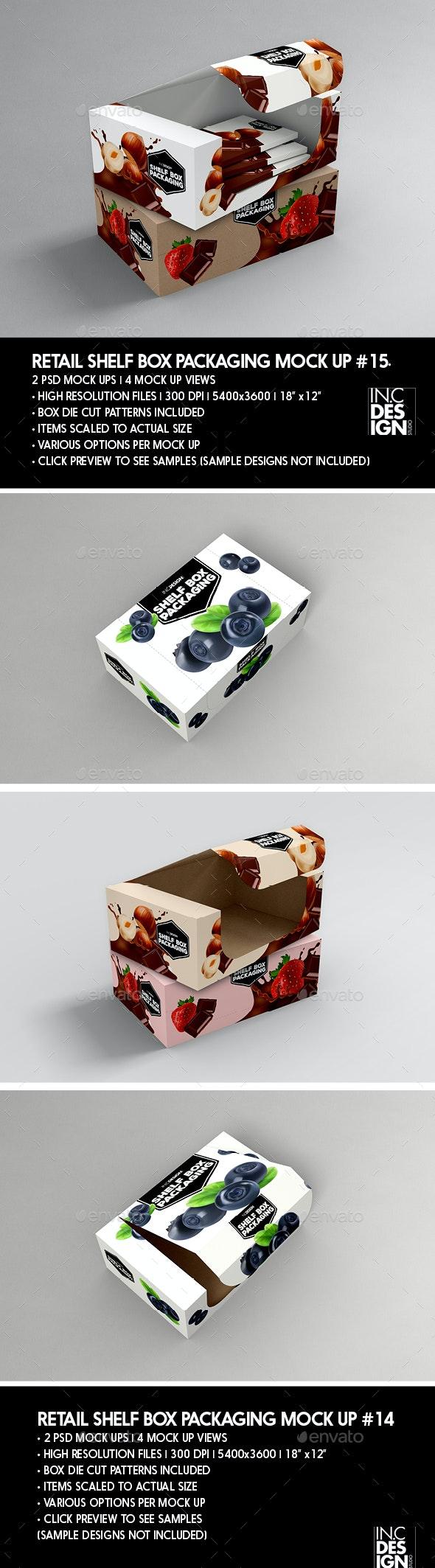 Retail Shelf Box Packaging MockUp No.15 - Packaging Product Mock-Ups
