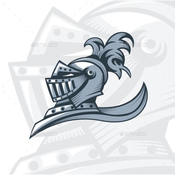 Monochrome Knight Emblem - Miscellaneous Vectors