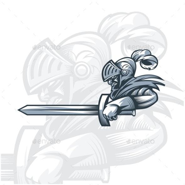 Monochrome Knight To Attack - Miscellaneous Vectors