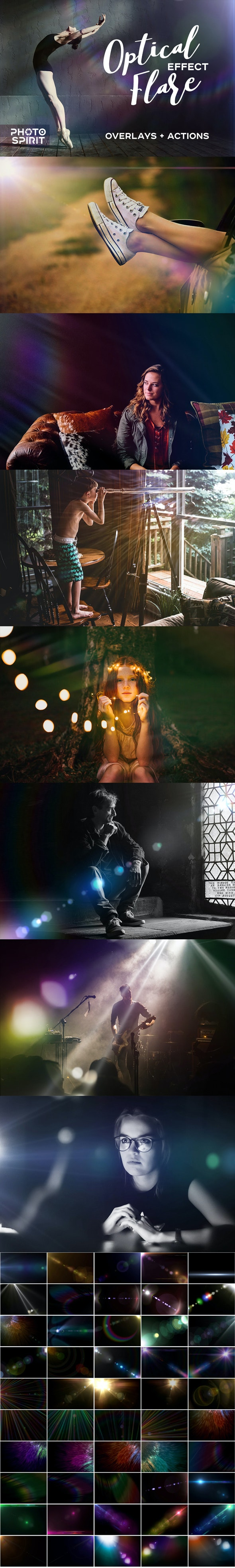 Optical Flare Overlay Effects - Photo Effects Actions