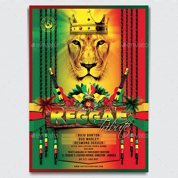 Reggae Tribute Flyer Template