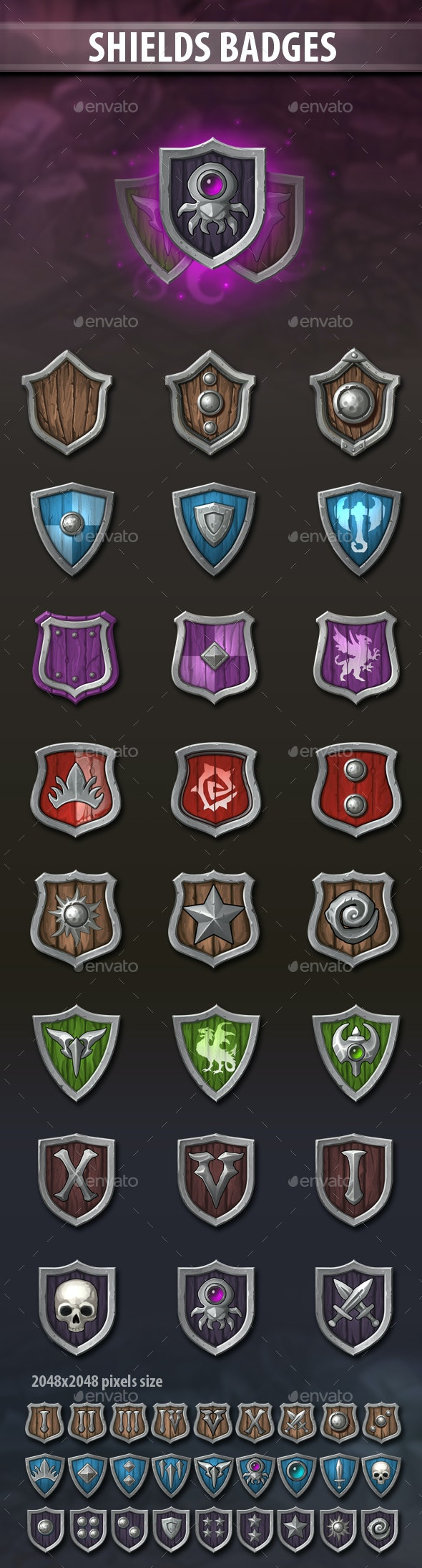 Shields Badges - Miscellaneous Game Assets