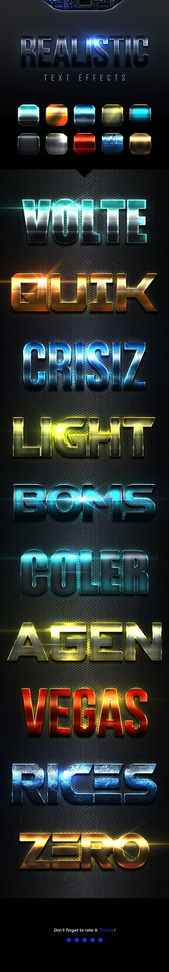 Realistic Text Effects Vol.4 - Text Effects Styles