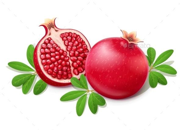 Ripe Juicy Pomegranate - Food Objects
