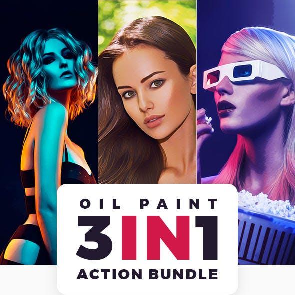Oil Paint Action Bundle