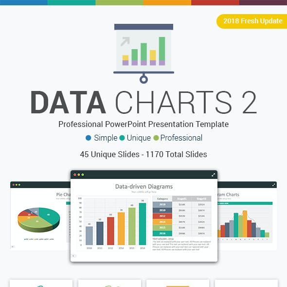 Data Charts 2 PowerPoint Template - Fully Editable
