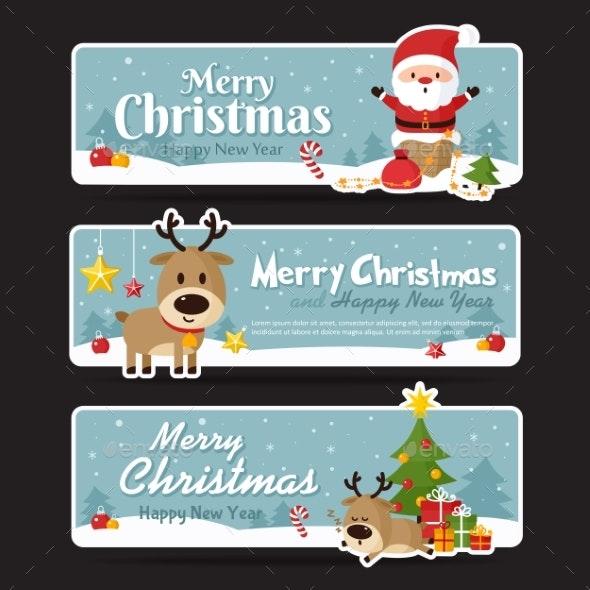 Set of Christmas Banners - Christmas Seasons/Holidays