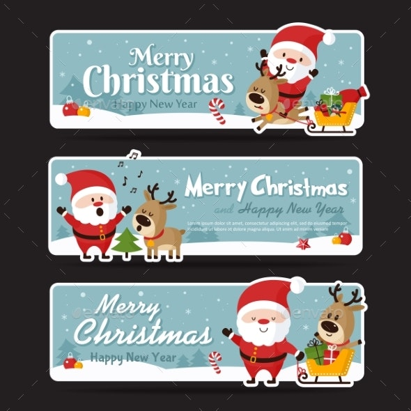 Set of Christmas Banners - Christmas Seasons/Holidays