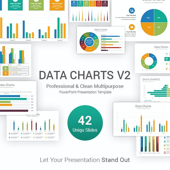 Data Charts PowerPoint Template V2