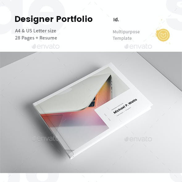 Landscape Creative Portfolio for Designers with Resume
