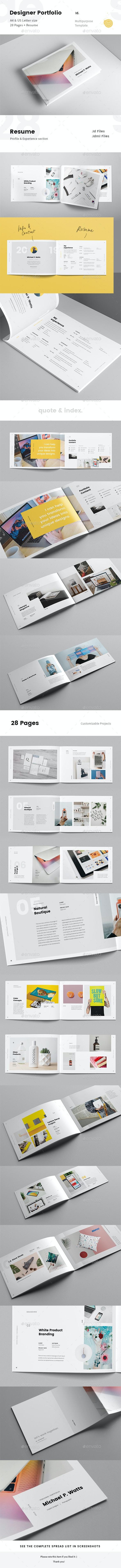 Landscape Creative Portfolio for Designers with Resume - Portfolio Brochures