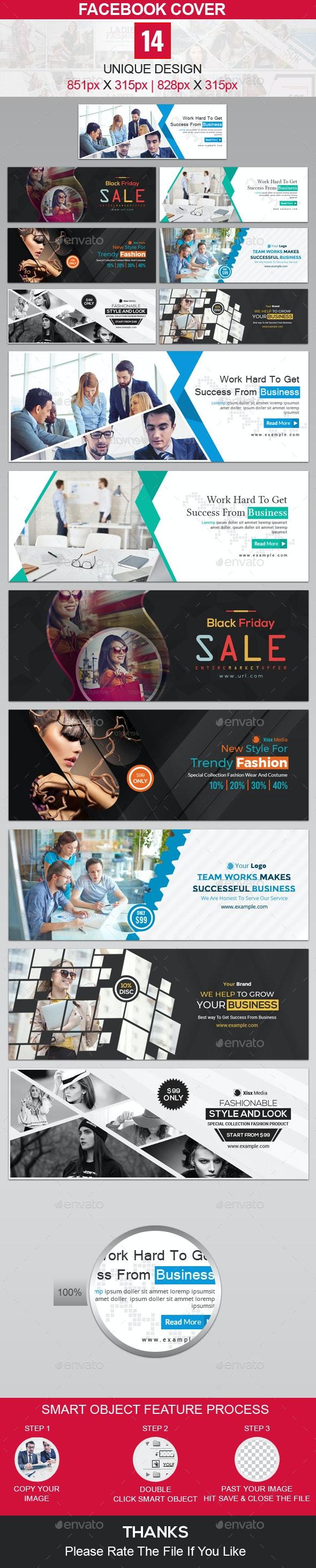 Facebook Cover Bundle - 14 Design - Facebook Timeline Covers Social Media